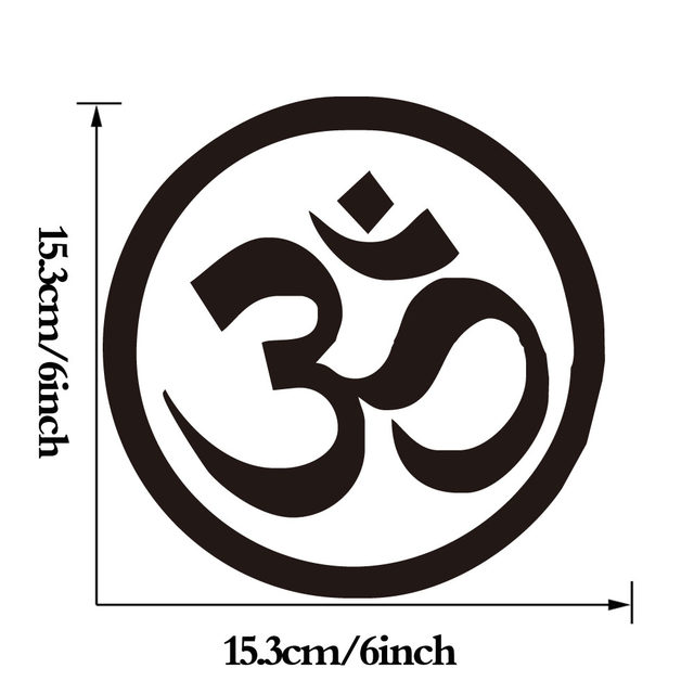 Online Shop Om Aum Symbol Hindu Yoga Computer Sticker For Bike