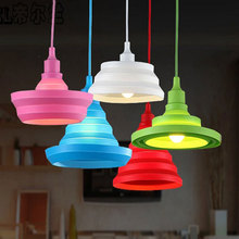 Modern Home Lighting Fixture Vintage Lamp for Living Room Lustre Suspension Colorful Retro Luminaire Led Silicone Dining Light