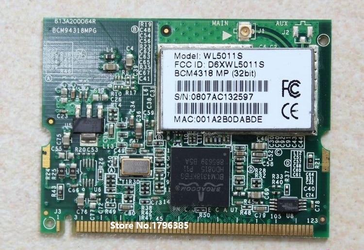SSEA оптовая продажа для Broadcom BCM4318 внутренняя Беспроводная половинная мини-PCI Wlan-карта для DEll Latitude C610 C640 D500 D505 D510 D600