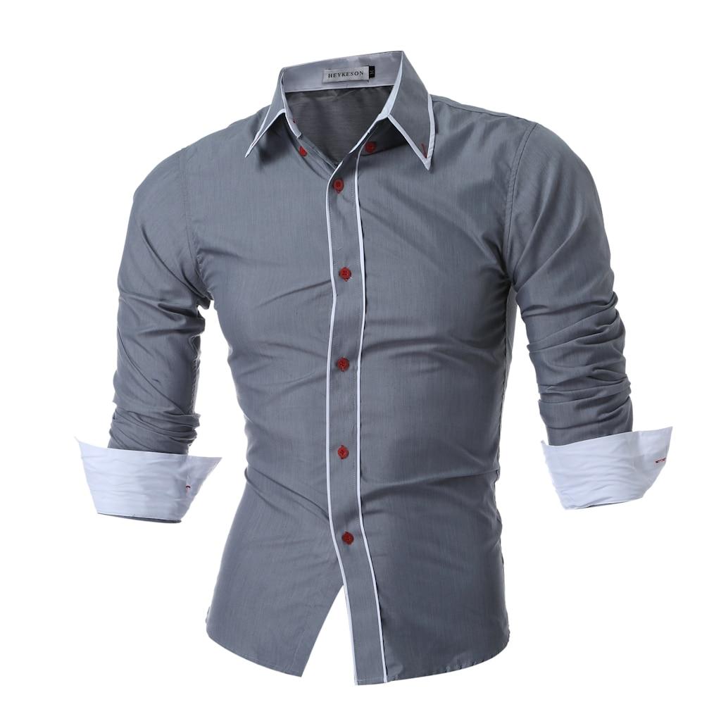 QINGYU 2018 New Mens Long Sleeved Man Dress Shirts Double ...