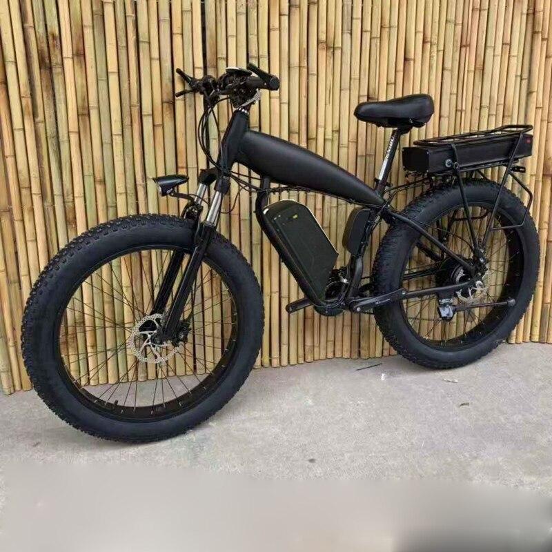 Custom 26inch Fat tire ebike 1500W 48V Li-ion snow electric mountain bicycle Hydraulic disc brake maximum range 100-260km 2