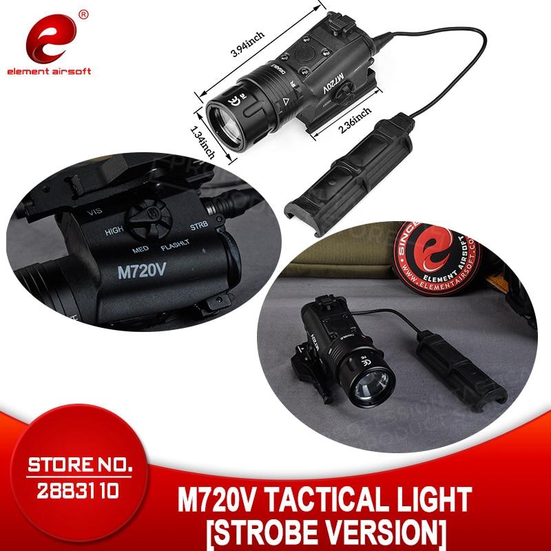 Airsoft Armas Element M720V lampe de poche tactique stroboscopique sortie Airsoftsports Surefir lumière avec M93 Softair arme lumière EX273