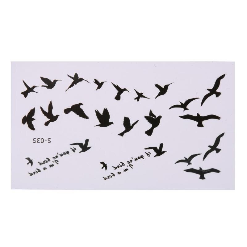 10 Sheets Flying Birds Temporary Tattoo Stickers Waterproof Body Art Decor