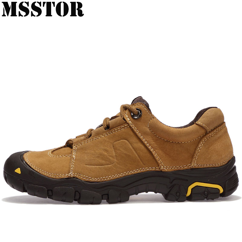 MSSTOR 2018 New Men Hiking Shoes Man Brand Mountaineering Camping Shoes Outdoor Athletic Hunting Trekking Mens Sneakers Sports