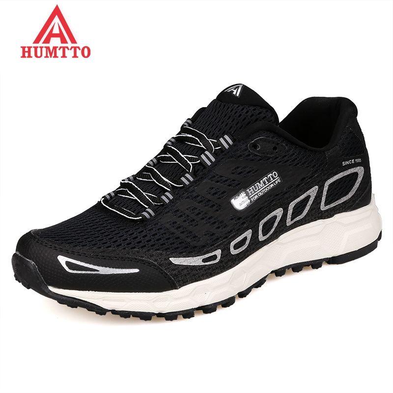 HUMTTO Mesh Breathable Running Shoes for Men Cushioning Outdoor Man Sneakers Lace-up Professional Marathon Light Sport Shoes xtep brand breathable running shoes for women light air mesh cushioning professional shoes athletic sport sneakers 983118119066