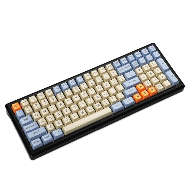 YMDK 96 84 104 87 61 לייזר חרוט ANSI ISO OEM פרופיל עבה PBT Keycap עבור MX מקלדת מכאנית YMD96 RS96 YMD75 KBD75 FC980M