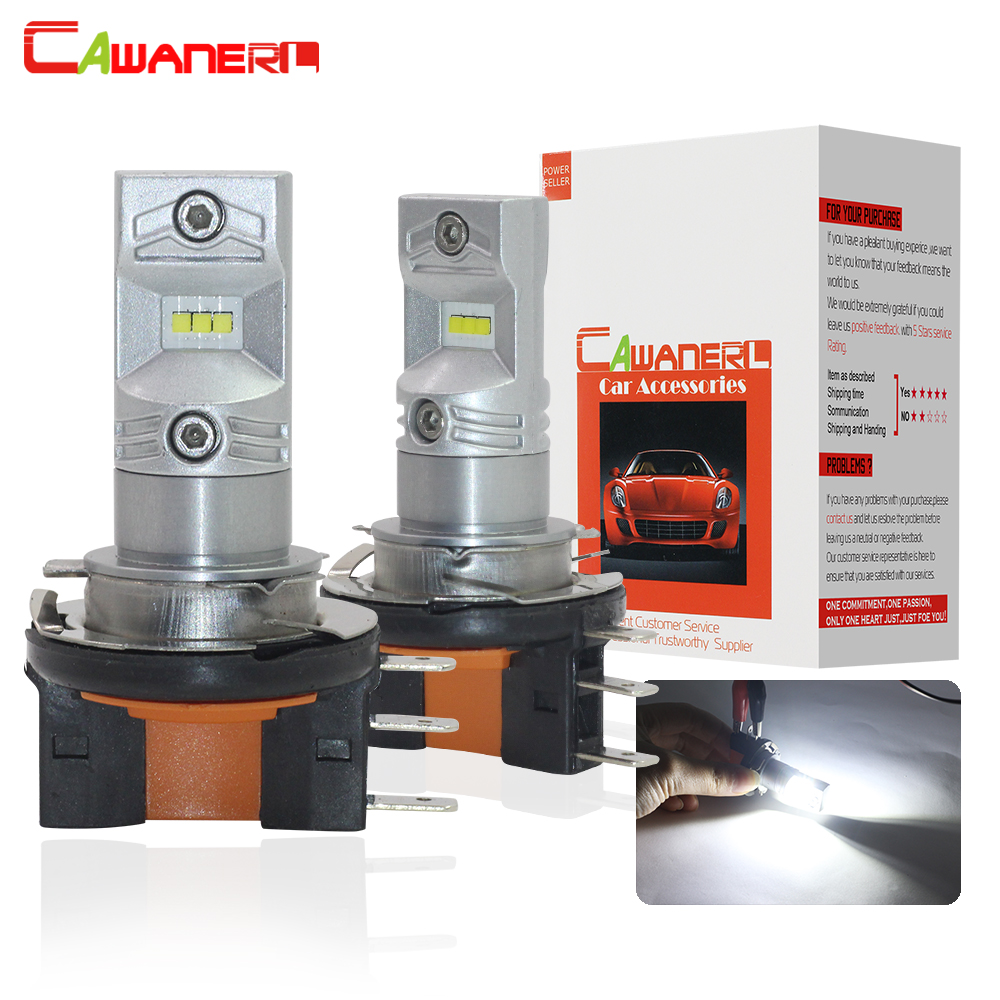 Cawanerl H15 80W 3200LM Each Set Imported CSP Bead 6000K White 12V Car Accessories Fog Light