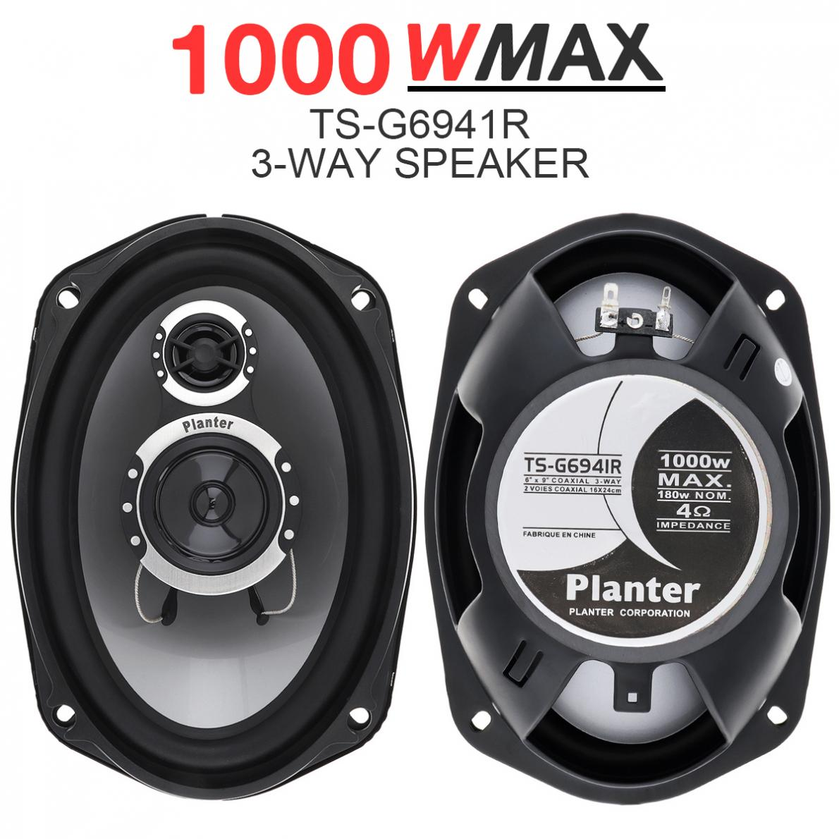 2pcs 6x9Inch 1000W 3 way Car Coaxial Auto Audio Music Stereo Full Range Frequency Hifi Speakers