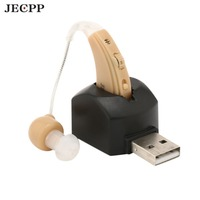 Digital Hearing Aids Invisible Rechargeable Sound Amplifier Volume Control With Soft Ear Tips Hearing Aid For