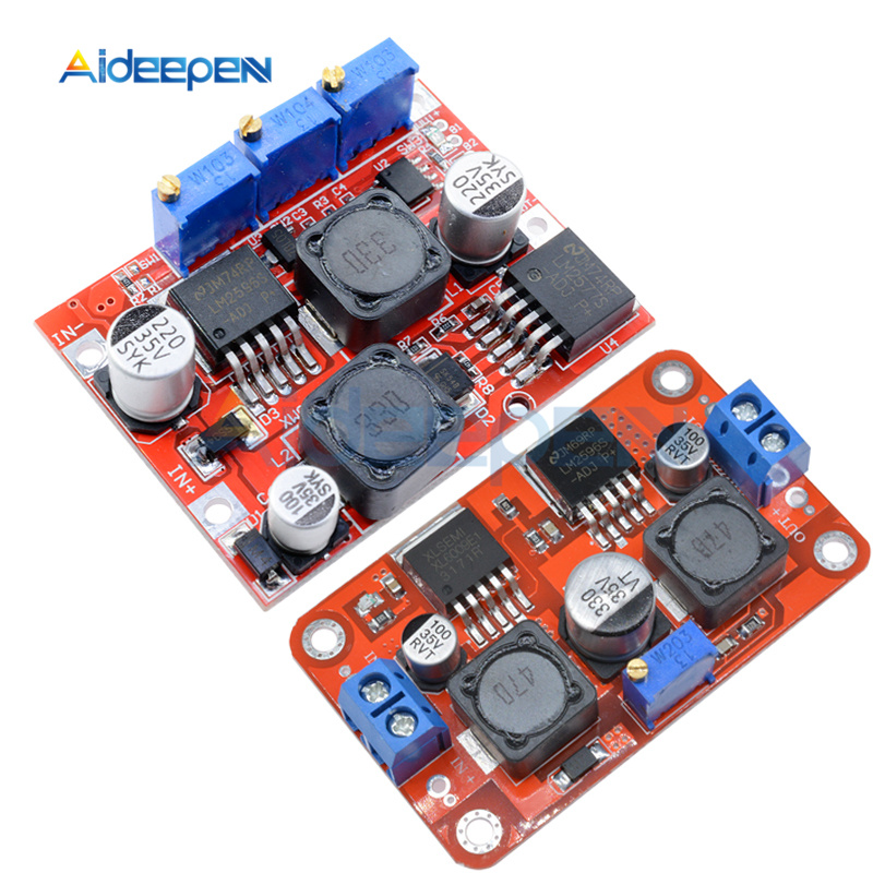 LM6019 LM2596 <font><b>DC</b></font>-<font><b>DC</b></font> Step Up Down Boost Buck <font><b>Voltage</b></font> Power <font><b>Converter</b></font> Module Auto Adjustable Constant Current Board 1.25V-26V 3A image