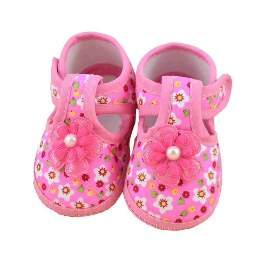 ARLONEET Baby Shoes  Girl Boy Soft Bowknot Cololrful Flower Boots high quality Kids Cloth Crib shoes 2018