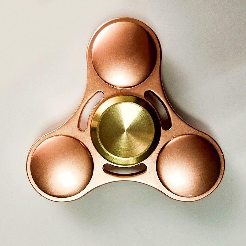 Fidget titanium spinner metal edc mão spinner dedo rotação feita foco colorido antiestresse estresse brinquedo fidget para amigo sl160