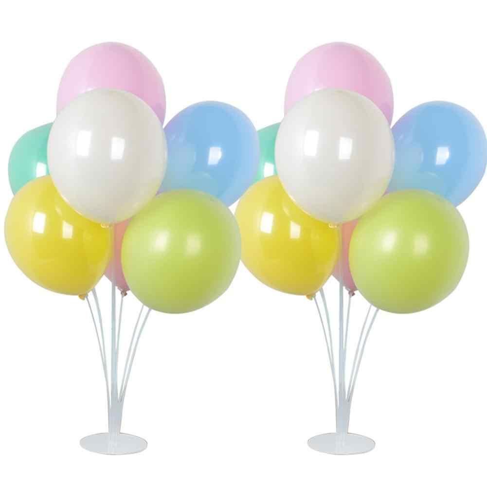 2018 Nova Venda 12 Polegada Macarons de Camada Dupla Balão De Látex Com a Coluna Para Festival de Aniversário de Casamento Decoração Do Partido