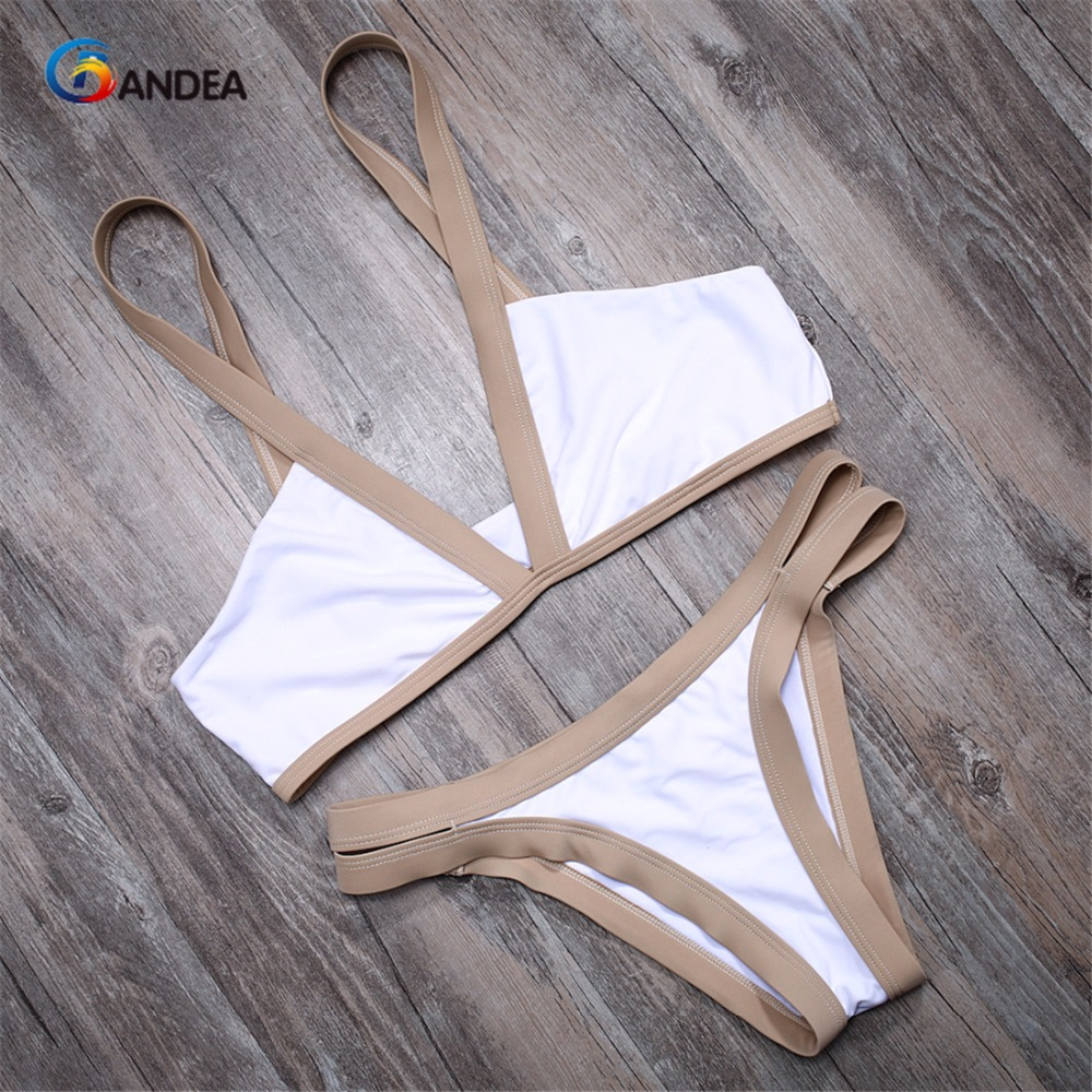 BANDEA sexy women bathing suits patchwork swimwear low waist bikini set thong panties summer biquiui beach