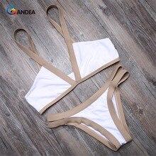 Bandea сексуальные женщины купальники лоскутная купальники с низкой талией бикини установить стринги трусики лето biquiui одежда для пляжа ha002