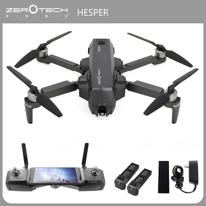 Original HESPER Selfie 4K Camera Drone FPV with 1080P HD Camera GPS System Drones Quadcopter Remote & APP Control Helicopter genuine original xiaomi mi drone 4k version hd camera app rc fpv quadcopter camera drone spare parts main body accessories accs