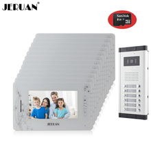 JERUAN Brand New Apartment Intercom 7 LCD Video Door Phone Doorbell intercom System for 12 house