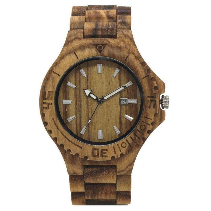 Vintage Zebra Wood Watches Men Watch With Zebra Bamboo Wood Strap Colock Men Women Wooden Wristwatch Relogio Feminino Masculino gorben round vintage zebra wood case men watch with ebony bamboo wood face bamboo wood strap bracelet watches cool modern gifts