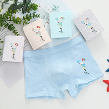 5pcs/lot Childrens Cotton boys kids panties Underwear Boys Printing Cartoon Cute Boxer briefs