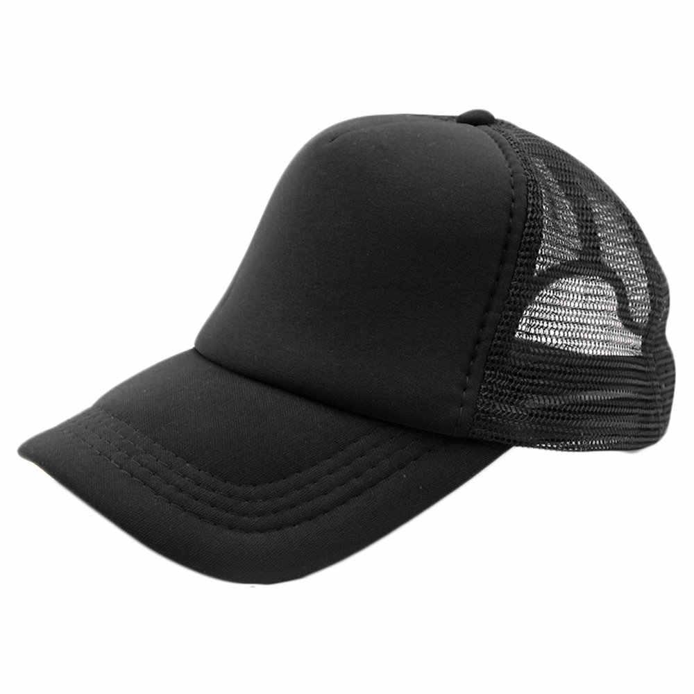 2017 NEW Summer Plain Trucker Mesh Hat Snapback Blank Baseball Cap Adjustable Size Men Women