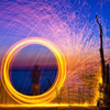 Steel Wool Shoot Fireworks Light Painting Graffiti Set Wedding Photography Romantic Light Atmosphere
