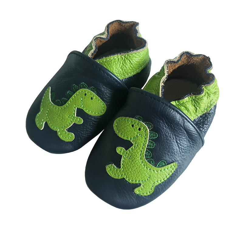 Cute Dinosaur Newborn Baby's First Walkers Soft Genuine ...
