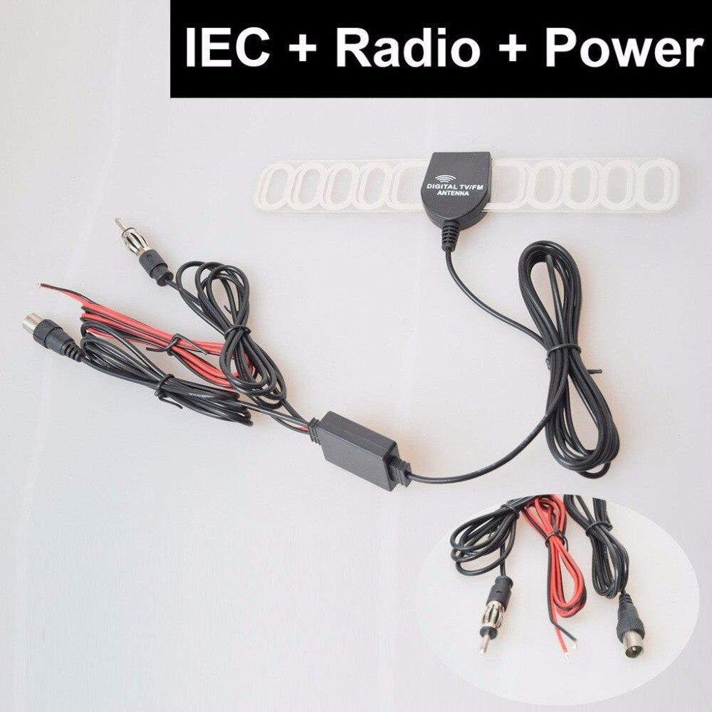 Auto TV Radio FM Antenne Signalverstärker Booster Digital TV DVBT ATSC ISDB Analog für Auto Dash DVD GPS Auto Stereoanlagen Kopf einheit
