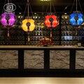 Лофт Винтаж Красочные стеклянные подвесные лампы Юго-Восточной Азии тайского стиля освещения Ресторан Бар Богемия Кофейня магазин Droplight