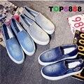Lazer Sapatos Baixos Sapatos Confortáveis Tamanho 35-39 #2 Cores Da Moda Jean Casuais Invisíveis Sapatas de Lona Conforto Senhora sapatos ML2330