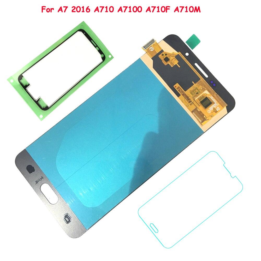 FIX2SAILING 100% de Travail AMOLED LCD Affichage Tactile Assemblée D'écran Pour Samsung Galaxy A7 2016 A7100 A710F A710M
