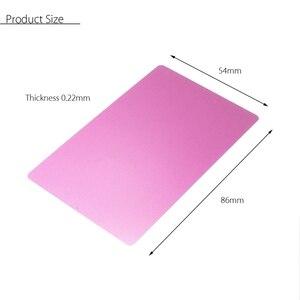 Image 2 - بطاقة معدنية منقوشة بالليزر 100 قطعة من سبائك الألومنيوم سوداء فضية اللون مناسبة لزيارة الأعمال التجارية بطاقات مفرغة بسمك 0.22 مللي متر 3.4 × 2.1 بوصة