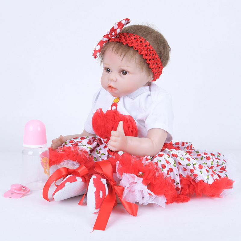 Silcone Doll Reborn Baby Toys with Magnetic Pacifier and Blanket Lovey Infant Bebe Reborn Dolls Brinquedos SB5552 Dolls Reborn ...