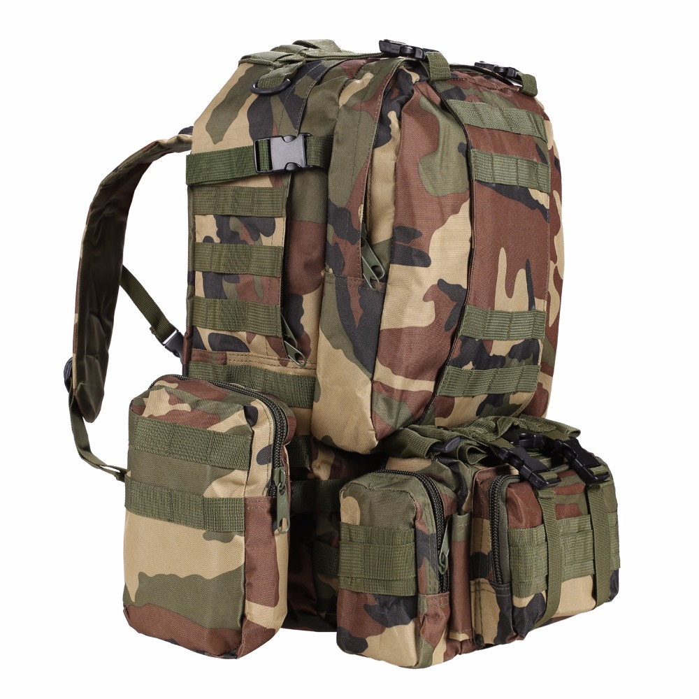 Camouflage Outdoor Bag Military Army Tactical Backpack Large Rucksack Mountaineering Bag for Camping Hiking 70l outdoor mountaineering bag large capacity tactical bag military backpack camouflage molle backpack hunting camping rucksack