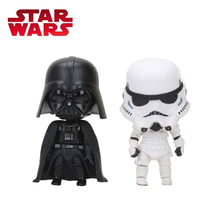 10cm Nendoroid Star Wars Toy The Force Awakens Stormtrooper Darth Vader 501# 502# PVC Action Figure Star Wars Figure Toys playarts kai star wars stormtrooper pvc action figure collectible model toy
