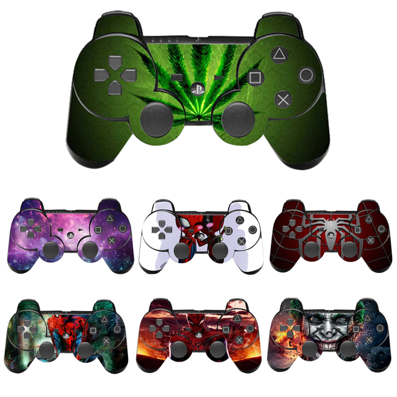 Spiderman Style Protector Vinyl Skin Sticker For PS3 Controller Controle Decal Gamepad Cover For Sony Playstation 3
