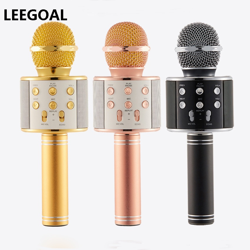 Professional Bluetooth Wireless Microphone Karaoke Microphone Speaker Handheld Music Player MIC Singing Recorder KTV Microphone цена