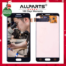 "ORIGINAL 5,2 ""AMOLED LCD für SAMSUNG Galaxy A5 2016 LCD Display A510 A510F A510M SM-A510F Touchscreen Digitizer LCD Ersatz"