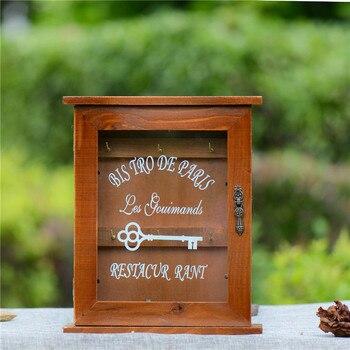 Bricolage fait main boîtes Cargo organisateur boîte de rangement Simple petite clé pendaison mallette de rangement téléphone supports bois étagère bois Rack