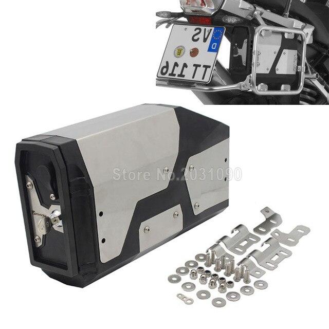Para BMW R1200GS LC aventura 2013-2017 R1200GS de aluminio decorativa caja de herramientas adecuado para BMW soporte lateral 4,2 litros