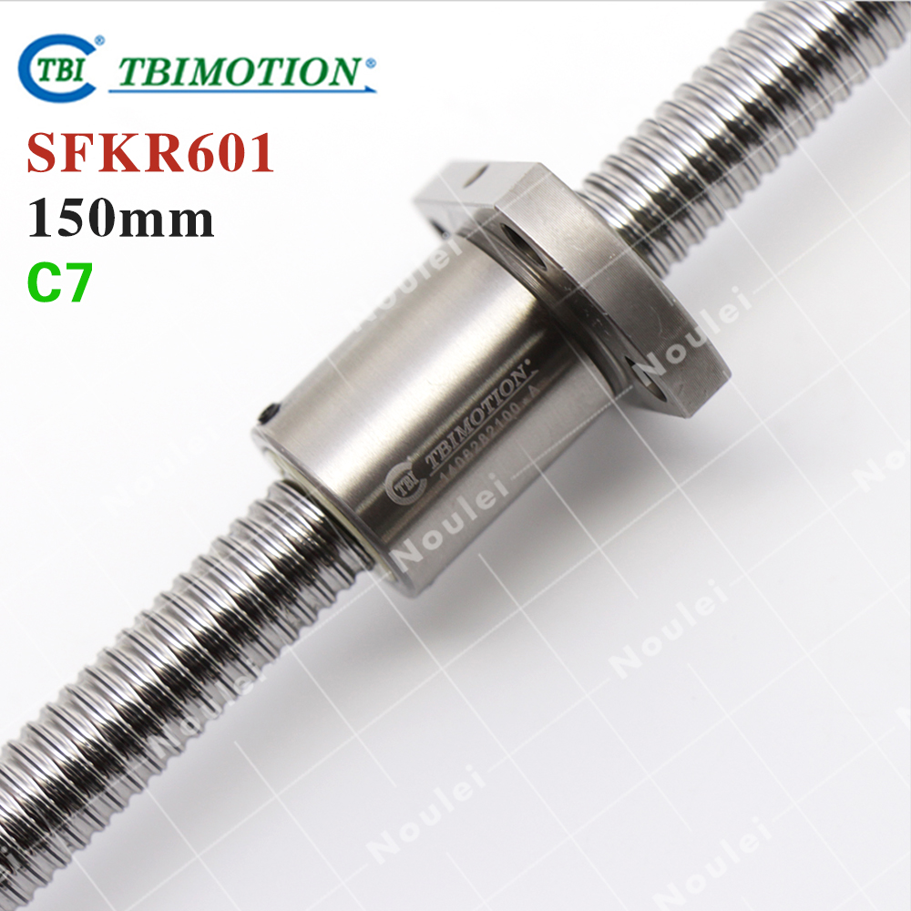 Taiwan TBI 0601 mini ball screw 1mm lead 6mm diameter 150 mm with end machined and ballnut SFK0601 for CNC kit parts винт tbi sfkr 0802t3d