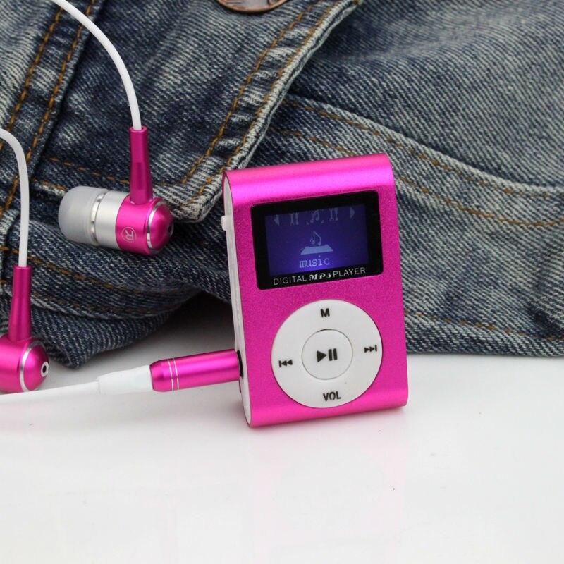 Портативный MP3 ЖК-дисплей Экран Металл Мини Clip MP3-плееры с микро-tf/SD слот для карты спорт mp3 плееров Walkman (без гарнитуры)