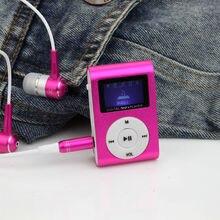 Портативный MP3 ЖК-Экран Металл Мини Clip Mp3-плеер С Micro TF/Слот Для Карты SD спорт mp3-плееры walkman (без Гарнитуры)