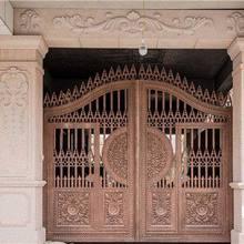 Домашние алюминиевые ворота дизайн/стальные раздвижные ворота/алюминиевая ограда ворота конструкции hc-ag21