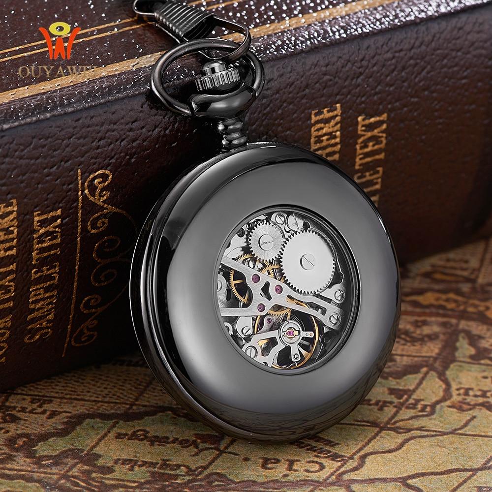 Steampunk 포켓 시계 OUYAWEI 새로운 디자인 럭셔리 - 회중 시계 - 사진 5