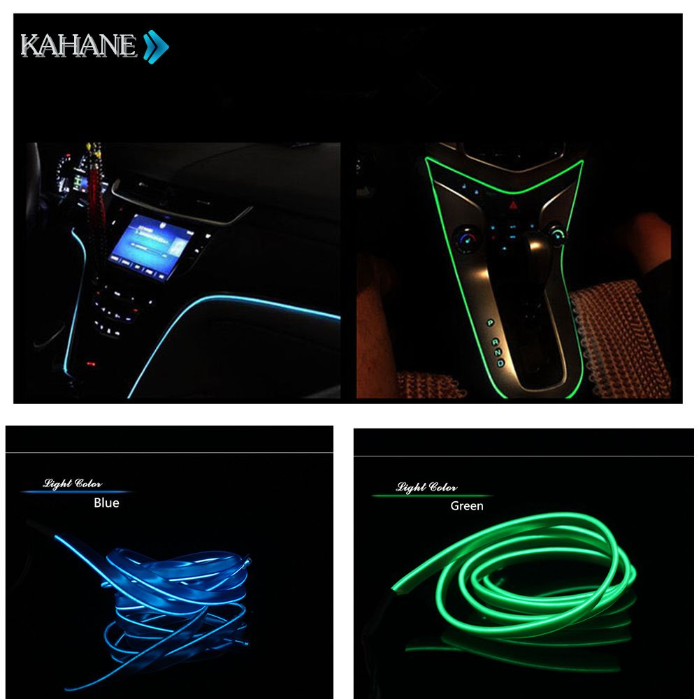 car interior 2m el wire rope glow light line console door for bmw e39 e60 e90 f10 e65 e86 e89. Black Bedroom Furniture Sets. Home Design Ideas