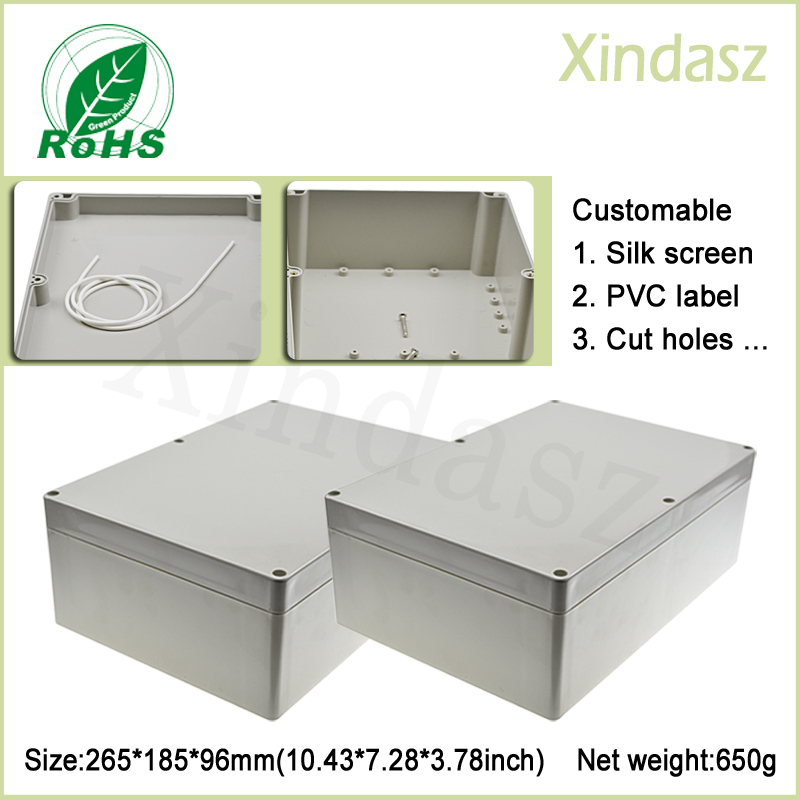 265*185*96mm waterproof electrical junction boxes outdoor electrical enclosure for electronics plastic