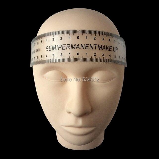 2pcs Eyebrow Grooming Stencil Shaper Ruler Measure Tool Makeup Reusable Permanent Makeup Measure Tools 2