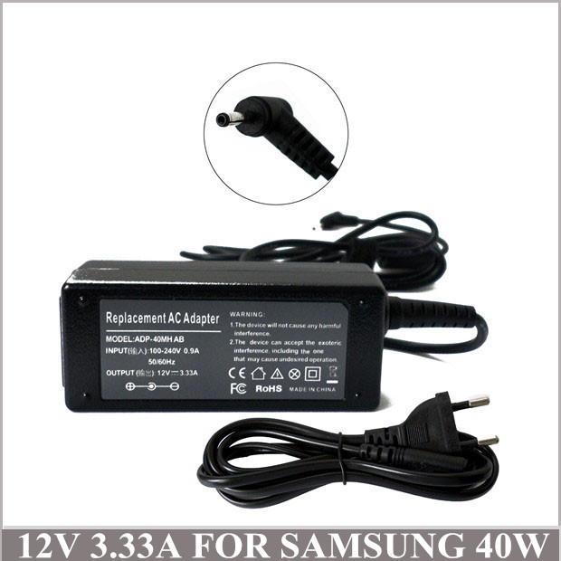 12V 3.33A 40W AC Adapter Notebook Power Charger For Samsung Chromebook XE700T1C-A05UK XE500T1C-<font><b>A03DE</b></font> AA-PA3N40W AA-PA3N40W/US image