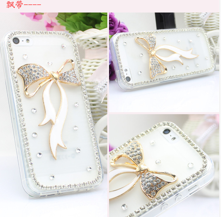For Huawei P7 case rhinestone mobile phone cases Transparent case protective cover colorful glossy case 3