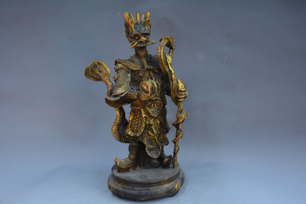 Collectable Qing Dynasty brass Statue,Dragon King,Free ShippingCollectable Qing Dynasty brass Statue,Dragon King,Free Shipping